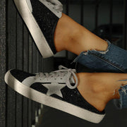 Sequins Star Design Casual Lace-Up Sneakers - Shop Shiningbabe - Womens Fashion Online Shopping Offering Huge Discounts on Shoes - Heels, Sandals, Boots, Slippers; Clothing - Tops, Dresses, Jumpsuits, and More.