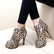 Fashion Leopard Pointed Stiletto Heel Boots - Shop Shiningbabe - Womens Fashion Online Shopping Offering Huge Discounts on Shoes - Heels, Sandals, Boots, Slippers; Clothing - Tops, Dresses, Jumpsuits, and More.