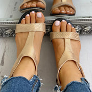 Open Toe T-Strap Design Flat Sandals - Shop Shiningbabe - Womens Fashion Online Shopping Offering Huge Discounts on Shoes - Heels, Sandals, Boots, Slippers; Clothing - Tops, Dresses, Jumpsuits, and More.