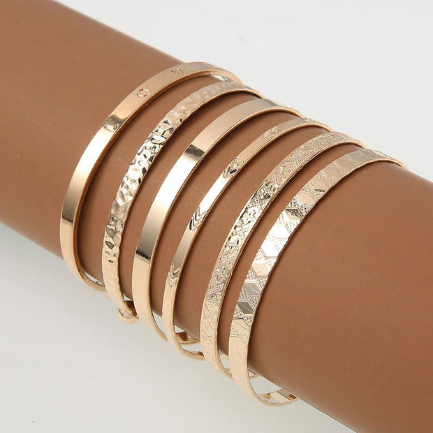 Arrow Pattern Layered Bracelet