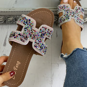 Open Toe Studded Geo Cutout Flat Sandals - Shop Shiningbabe - Womens Fashion Online Shopping Offering Huge Discounts on Shoes - Heels, Sandals, Boots, Slippers; Clothing - Tops, Dresses, Jumpsuits, and More.