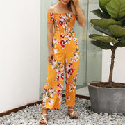 Printed Off Shoulder Jumpsuit - Shop Shiningbabe - Womens Fashion Online Shopping Offering Huge Discounts on Shoes - Heels, Sandals, Boots, Slippers; Clothing - Tops, Dresses, Jumpsuits, and More.