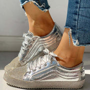 Sequins Casual Lace-Up Sneakers - Shop Shiningbabe - Womens Fashion Online Shopping Offering Huge Discounts on Shoes - Heels, Sandals, Boots, Slippers; Clothing - Tops, Dresses, Jumpsuits, and More.