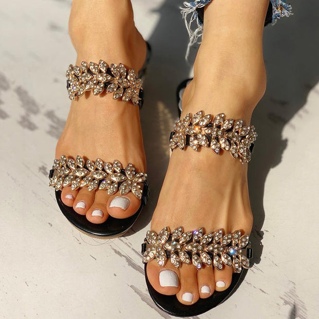 Studded Double Buckle Sandals - Shop Shiningbabe - Womens Fashion Online Shopping Offering Huge Discounts on Shoes - Heels, Sandals, Boots, Slippers; Clothing - Tops, Dresses, Jumpsuits, and More.