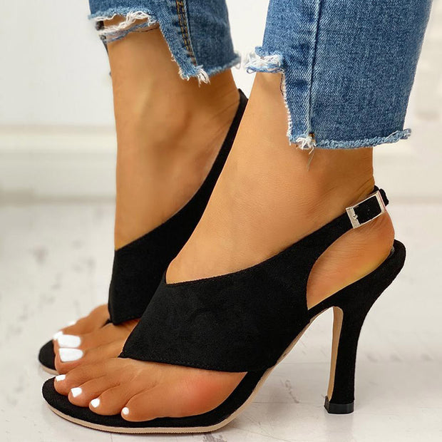 Toe Post Slingback Thin Heeled Sandals - Shop Shiningbabe - Womens Fashion Online Shopping Offering Huge Discounts on Shoes - Heels, Sandals, Boots, Slippers; Clothing - Tops, Dresses, Jumpsuits, and More.