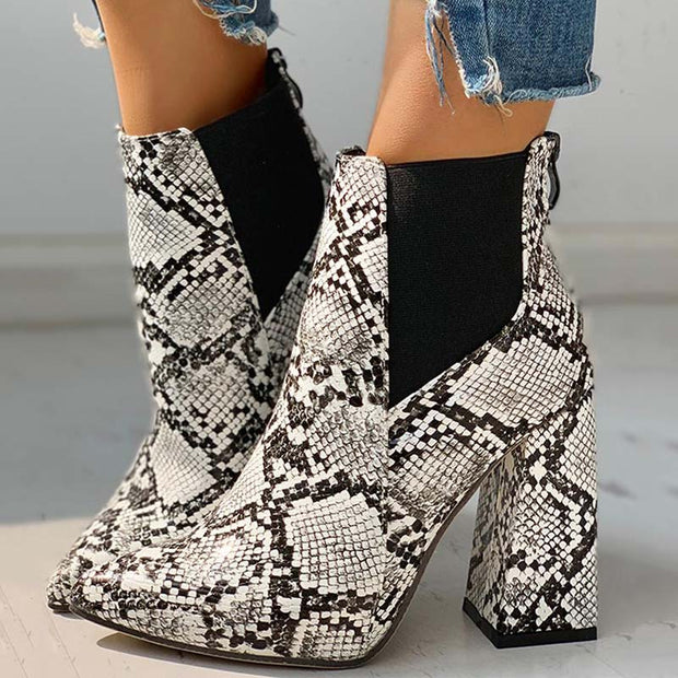 Pointed Toe Chunky Heeled Boots - Shop Shiningbabe - Womens Fashion Online Shopping Offering Huge Discounts on Shoes - Heels, Sandals, Boots, Slippers; Clothing - Tops, Dresses, Jumpsuits, and More.