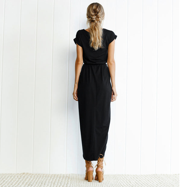 Fashion Split Irregular Bodycon Dress - Shop Shiningbabe - Womens Fashion Online Shopping Offering Huge Discounts on Shoes - Heels, Sandals, Boots, Slippers; Clothing - Tops, Dresses, Jumpsuits, and More.