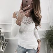 Sexy lace stitching off shoulder T-shirt - Shop Shiningbabe - Womens Fashion Online Shopping Offering Huge Discounts on Shoes - Heels, Sandals, Boots, Slippers; Clothing - Tops, Dresses, Jumpsuits, and More.