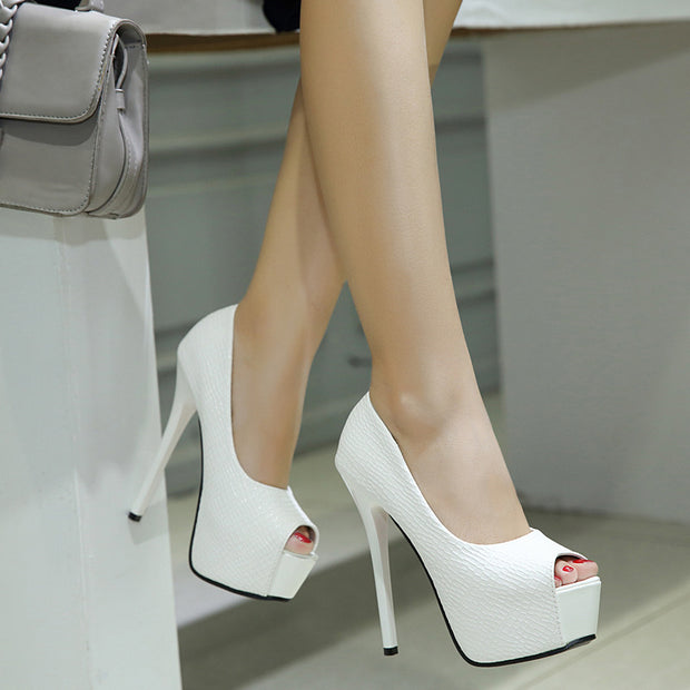 Pointed Platform High Heel Sandals - Shop Shiningbabe - Womens Fashion Online Shopping Offering Huge Discounts on Shoes - Heels, Sandals, Boots, Slippers; Clothing - Tops, Dresses, Jumpsuits, and More.
