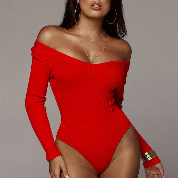 V-neck Long Sleeve Pitted Jumpsuit - Shop Shiningbabe - Womens Fashion Online Shopping Offering Huge Discounts on Shoes - Heels, Sandals, Boots, Slippers; Clothing - Tops, Dresses, Jumpsuits, and More.