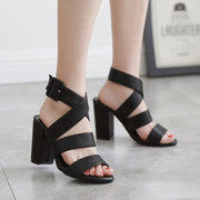 Irregular Straps With High Heel Sandals - Shop Shiningbabe - Womens Fashion Online Shopping Offering Huge Discounts on Shoes - Heels, Sandals, Boots, Slippers; Clothing - Tops, Dresses, Jumpsuits, and More.