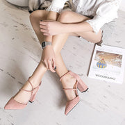 Bandage Suede Pointed High Heel Sandals - Shop Shiningbabe - Womens Fashion Online Shopping Offering Huge Discounts on Shoes - Heels, Sandals, Boots, Slippers; Clothing - Tops, Dresses, Jumpsuits, and More.