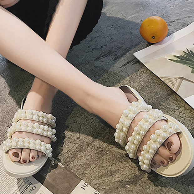 Women's Fashion Pearl Slippers - Shop Shiningbabe - Womens Fashion Online Shopping Offering Huge Discounts on Shoes - Heels, Sandals, Boots, Slippers; Clothing - Tops, Dresses, Jumpsuits, and More.