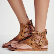 Vintage Lace Up Leather Flip Flops Sandals - Shop Shiningbabe - Womens Fashion Online Shopping Offering Huge Discounts on Shoes - Heels, Sandals, Boots, Slippers; Clothing - Tops, Dresses, Jumpsuits, and More.