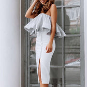 Splicing Off shoulder Wrapped Chest Top - Shop Shiningbabe - Womens Fashion Online Shopping Offering Huge Discounts on Shoes - Heels, Sandals, Boots, Slippers; Clothing - Tops, Dresses, Jumpsuits, and More.