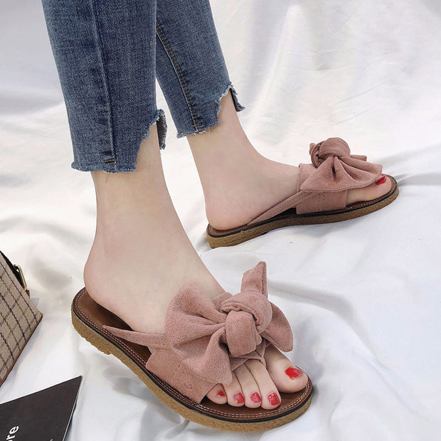 Bow Casual Beach Flat Sandals - Shop Shiningbabe - Womens Fashion Online Shopping Offering Huge Discounts on Shoes - Heels, Sandals, Boots, Slippers; Clothing - Tops, Dresses, Jumpsuits, and More.