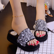 Wild Thick-bottomed Rhinestone Sandals - Shop Shiningbabe - Womens Fashion Online Shopping Offering Huge Discounts on Shoes - Heels, Sandals, Boots, Slippers; Clothing - Tops, Dresses, Jumpsuits, and More.
