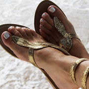 Snake Pattern Flip Flop Flat Sandals - Shop Shiningbabe - Womens Fashion Online Shopping Offering Huge Discounts on Shoes - Heels, Sandals, Boots, Slippers; Clothing - Tops, Dresses, Jumpsuits, and More.
