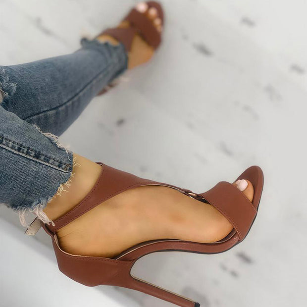 Solid Buckled T-Strap Thin Heeled Sandals - Shop Shiningbabe - Womens Fashion Online Shopping Offering Huge Discounts on Shoes - Heels, Sandals, Boots, Slippers; Clothing - Tops, Dresses, Jumpsuits, and More.
