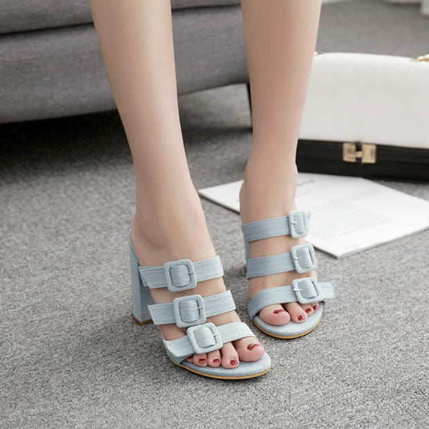 Printed Hollow Toe High Heels - Shop Shiningbabe - Womens Fashion Online Shopping Offering Huge Discounts on Shoes - Heels, Sandals, Boots, Slippers; Clothing - Tops, Dresses, Jumpsuits, and More.