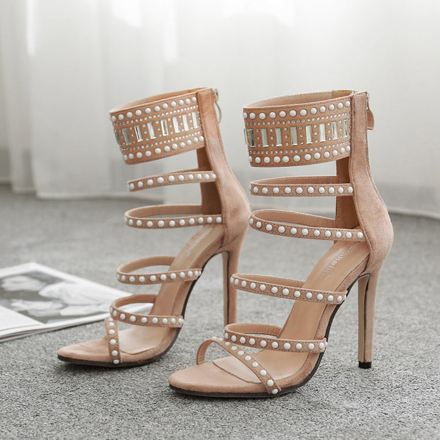 Hot Drilling Versatile Pointed High Heels - Shop Shiningbabe - Womens Fashion Online Shopping Offering Huge Discounts on Shoes - Heels, Sandals, Boots, Slippers; Clothing - Tops, Dresses, Jumpsuits, and More.