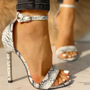 Snakeskin Open Toe Thin Heeled Sandals - Shop Shiningbabe - Womens Fashion Online Shopping Offering Huge Discounts on Shoes - Heels, Sandals, Boots, Slippers; Clothing - Tops, Dresses, Jumpsuits, and More.