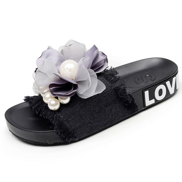Pearl Flower Casual Flat Shoes - Shop Shiningbabe - Womens Fashion Online Shopping Offering Huge Discounts on Shoes - Heels, Sandals, Boots, Slippers; Clothing - Tops, Dresses, Jumpsuits, and More.