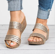 Fashion Pierced Carved Wedge Sandals - Shop Shiningbabe - Womens Fashion Online Shopping Offering Huge Discounts on Shoes - Heels, Sandals, Boots, Slippers; Clothing - Tops, Dresses, Jumpsuits, and More.