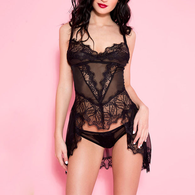 Sexy Black Lace Sling - Shop Shiningbabe - Womens Fashion Online Shopping Offering Huge Discounts on Shoes - Heels, Sandals, Boots, Slippers; Clothing - Tops, Dresses, Jumpsuits, and More.