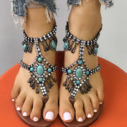 Fashion Beaded Flat Sandals - Shop Shiningbabe - Womens Fashion Online Shopping Offering Huge Discounts on Shoes - Heels, Sandals, Boots, Slippers; Clothing - Tops, Dresses, Jumpsuits, and More.