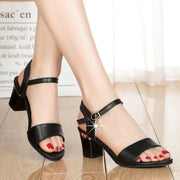 Casual One-button Buckle High Heel Sandals - Shop Shiningbabe - Womens Fashion Online Shopping Offering Huge Discounts on Shoes - Heels, Sandals, Boots, Slippers; Clothing - Tops, Dresses, Jumpsuits, and More.