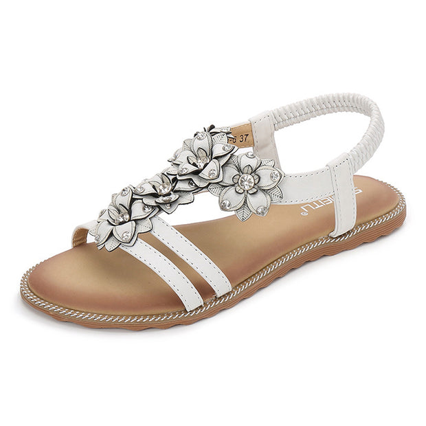 Fashion Bohemian Flower Flat Sandals - Shop Shiningbabe - Womens Fashion Online Shopping Offering Huge Discounts on Shoes - Heels, Sandals, Boots, Slippers; Clothing - Tops, Dresses, Jumpsuits, and More.