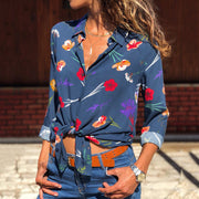Printed Long Sleeve Blouse - Shop Shiningbabe - Womens Fashion Online Shopping Offering Huge Discounts on Shoes - Heels, Sandals, Boots, Slippers; Clothing - Tops, Dresses, Jumpsuits, and More.