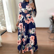 Casual Printed Strap Long Sleeve Dress - Shop Shiningbabe - Womens Fashion Online Shopping Offering Huge Discounts on Shoes - Heels, Sandals, Boots, Slippers; Clothing - Tops, Dresses, Jumpsuits, and More.