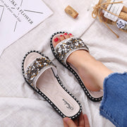 Fashion Flat Bottom Rhinestone Beach Slippers - Shop Shiningbabe - Womens Fashion Online Shopping Offering Huge Discounts on Shoes - Heels, Sandals, Boots, Slippers; Clothing - Tops, Dresses, Jumpsuits, and More.