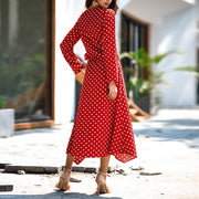Polka Dot V Neck Dress - Shop Shiningbabe - Womens Fashion Online Shopping Offering Huge Discounts on Shoes - Heels, Sandals, Boots, Slippers; Clothing - Tops, Dresses, Jumpsuits, and