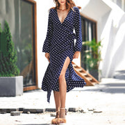 Polka Dot V Neck Dress - Shop Shiningbabe - Womens Fashion Online Shopping Offering Huge Discounts on Shoes - Heels, Sandals, Boots, Slippers; Clothing - Tops, Dresses, Jumpsuits, and More.