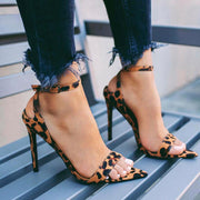 Leopard Bandage Pointed High Heel Sandals - Shop Shiningbabe - Womens Fashion Online Shopping Offering Huge Discounts on Shoes - Heels, Sandals, Boots, Slippers; Clothing - Tops, Dresses, Jumpsuits, and More.