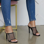 Mesh Openwork High Heel Sandals - Shop Shiningbabe - Womens Fashion Online Shopping Offering Huge Discounts on Shoes - Heels, Sandals, Boots, Slippers; Clothing - Tops, Dresses, Jumpsuits, and More.
