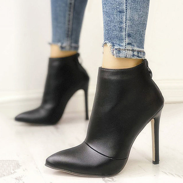 Black Pointed High Heel Booties - Shop Shiningbabe - Womens Fashion Online Shopping Offering Huge Discounts on Shoes - Heels, Sandals, Boots, Slippers; Clothing - Tops, Dresses, Jumpsuits, and More.