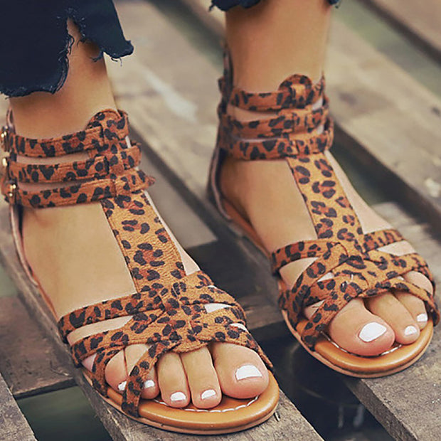 Suede Multi-Strap Crisscross Flat Sandals - Shop Shiningbabe - Womens Fashion Online Shopping Offering Huge Discounts on Shoes - Heels, Sandals, Boots, Slippers; Clothing - Tops, Dresses, Jumpsuits, and More.