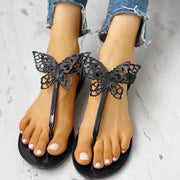 Toe Post Butterfly Design Flat Sandals - Shop Shiningbabe - Womens Fashion Online Shopping Offering Huge Discounts on Shoes - Heels, Sandals, Boots, Slippers; Clothing - Tops, Dresses, Jumpsuits, and More.