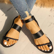 Toe Ring Braided Design Sandals - Shop Shiningbabe - Womens Fashion Online Shopping Offering Huge Discounts on Shoes - Heels, Sandals, Boots, Slippers; Clothing - Tops, Dresses, Jumpsuits, and More.