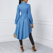 Solid Color Lantern Sleeves Swallowtail Dress - Shop Shiningbabe - Womens Fashion Online Shopping Offering Huge Discounts on Shoes - Heels, Sandals, Boots, Slippers; Clothing - Tops, Dresses, Jumpsuits, and More.