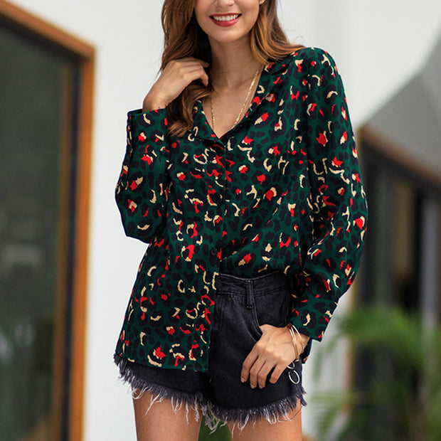 Contrast Printed Women Tops Shirt - Shop Shiningbabe - Womens Fashion Online Shopping Offering Huge Discounts on Shoes - Heels, Sandals, Boots, Slippers; Clothing - Tops, Dresses, Jumpsuits, and More.