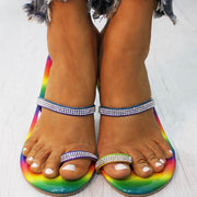 Fashion Rhinestone Rainbow Cutout Sandals - Shop Shiningbabe - Womens Fashion Online Shopping Offering Huge Discounts on Shoes - Heels, Sandals, Boots, Slippers; Clothing - Tops, Dresses, Jumpsuits, and More.