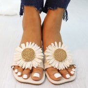 Fashion Exquisite Daisies Flat Slippers Sandals - Shop Shiningbabe - Womens Fashion Online Shopping Offering Huge Discounts on Shoes - Heels, Sandals, Boots, Slippers; Clothing - Tops, Dresses, Jumpsuits, and More.