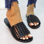 Fashionable Simple Rivet Flat Slippers Sandals - Shop Shiningbabe - Womens Fashion Online Shopping Offering Huge Discounts on Shoes - Heels, Sandals, Boots, Slippers; Clothing - Tops, Dresses, Jumpsuits, and More.