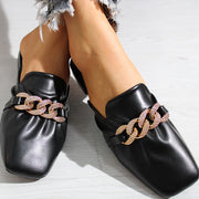 Fashion Pu Metal Ring Flat Sandals - Shop Shiningbabe - Womens Fashion Online Shopping Offering Huge Discounts on Shoes - Heels, Sandals, Boots, Slippers; Clothing - Tops, Dresses, Jumpsuits, and More.