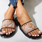 Fashion Bear Pattern Flat Non-slip Sandals Slippers - Shop Shiningbabe - Womens Fashion Online Shopping Offering Huge Discounts on Shoes - Heels, Sandals, Boots, Slippers; Clothing - Tops, Dresses, Jumpsuits, and More.